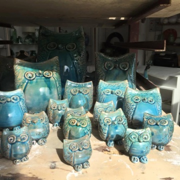 Owls ceramic (photo Cotti d'Arbus Daniela Melis)